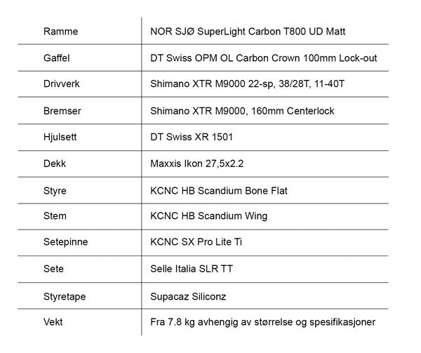 NOR-Sjø-XTR-275-DT-spec